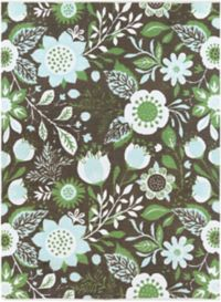 Surya Elaine Floral Sunflowers 8' x 11' Area Rug in Green/Blue