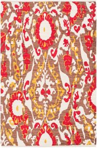 Surya Elaine Casual 5' x 7'6 Area Rug in Red/Gold