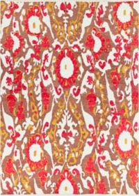 Surya Elaine Casual 8' x 11' Area Rug in Red/Gold