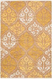 Surya Elaine Global Trellis 8' x 11' Area Rug in Yellow/Brown