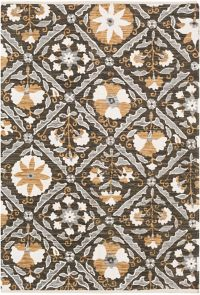 Surya Elaine Global Tiles 4' x 6' Area Rug in Black