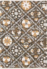 Surya Elaine Global Tiles 5' x 7'6 Area Rug in Black