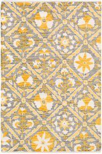 Surya Elaine Global Tiles 8' x 11' Area Rug in Yellow