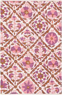 Surya Elaine Global Tiles 4' x 6' Area Rug in Purple
