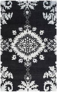 Safavieh Stone Washed Kay 4' x 6' Hand-Knotted Area Rug in Charcoal