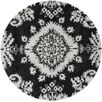 Safavieh Stone Washed Kay 6' Round Hand-Knotted Area Rug in Charcoal