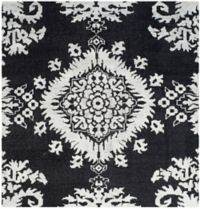 Safavieh Stone Washed Kay 6' Square Hand-Knotted Area Rug in Charcoal