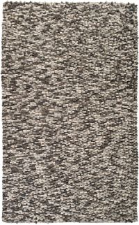 Surya Flagstone 5' x 8' Shag Handcrafted Area Rug in Black/Grey