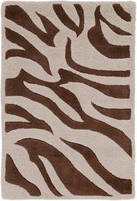 Surya Goa Animal 2' x 3' Handcrafted Accent Rug in Dark Brown/Beige