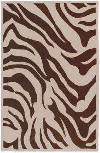 Surya Goa Animal 9' x 13' Handcrafted Area Rug in Dark Brown/Beige