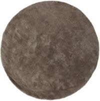 Surya Heaven 8' Hand Knotted Shag Round Area Rug in Medium Grey