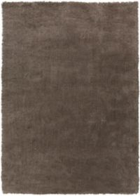 Surya Heaven 9' x 13' Hand Knotted Shag Round Area Rug in Medium Grey