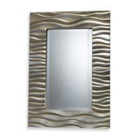 Transcend Mirror in Silver Leaf Finish
