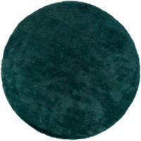 Surya Heaven 8' Hand Knotted Shag Round Area Rug in Teal