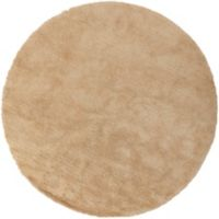 Surya Heaven 8' Hand Knotted Shag Round Area Rug in Butter