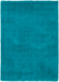 Surya Heaven 9' x 13' Hand Knotted Shag Round Area Rug in Aqua