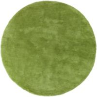 Surya Heaven 8' Hand Knotted Shag Round Area Rug in Lime