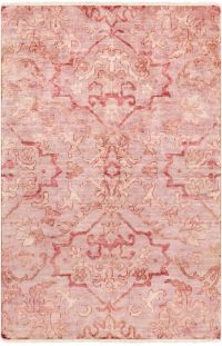 Surya Hillcrest Medallion 2' x 3' Accent Rug in Pale Pink