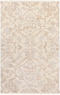 Surya Hillcrest Medallion 2' x 3' Accent Rug in Light Grey