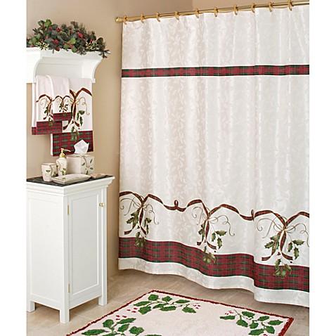 Lenox 174 Holiday Nouveau Fabric Shower Curtain Bed Bath