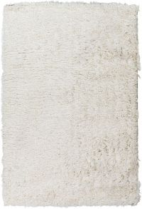Surya Glamour Shag 2' x 3' Accent Rug in White