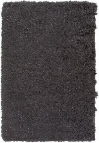 Surya Glamour Shag 5' x 8' Area Rug in Black