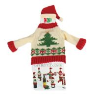 Christmas Tree Knit Hat and Sweater Bottle Topper