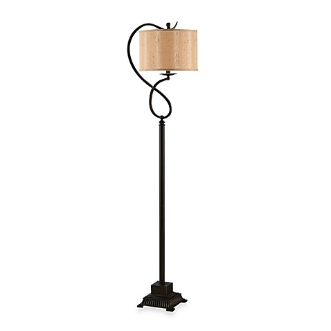 Crestview Collection Echo Bronze Metal 1-Light Floor Lamp