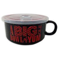 Boston Warehouse 22 oz. Big Ol Yum Covered Multicolor Soup Mug