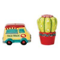 Taco Truck & Cactus Salt & Pepper Shakers