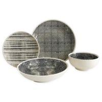 Baum Dalton 16-Piece Dinnerware Set in Grey