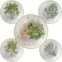 Certified International Fresh Herbs 5-Piece Pasta Bowl Set