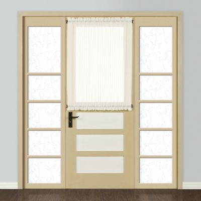 Attrayant Monte Carlo Sheer Voile 40 Inch Rod Pocket Door Curtain Panel In Egg/Natural