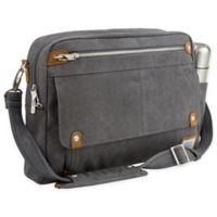 Travelon® Anti-Theft Heritage Messenger Bag in Pewter