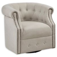 Madison Park Swivel Owen Chair in Beige