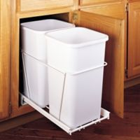 Rev-A-Shelf Double 27 qt. Pullout Waste Containers in White