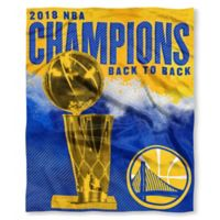 NBA 2018 Champions Golden State Warriors Silk Touch Throw Blanket