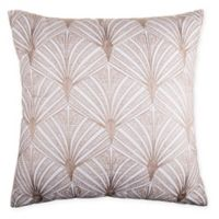 Natalya Embroidered Square Throw Pillow in Natural