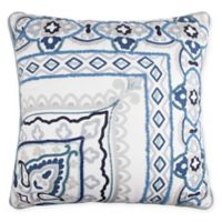 Off-Center Global Square Throw Pillow in Spa
