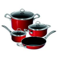 Chantal® Copper Fusion® Carbon Steel 7-Piece Cookware Set in Chili Red