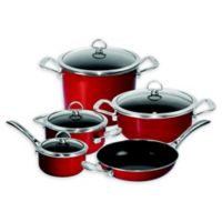 Chantal® Copper Fusion® Carbon Steel 9-Piece Cookware Set in Chili Red