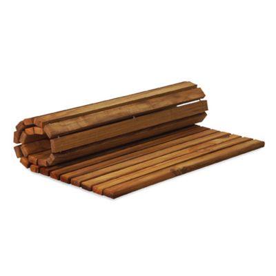 teak string mat - Teak Shower Mat