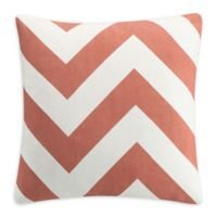 Clifton Chevron Square Throw Pillow in Natural