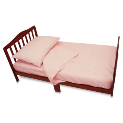 toddler bedding sets u003e tl care percale 4piece toddler bedding set in pink