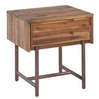 TOV Furniture Bushwick Wooden Nightstand in Brown
