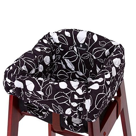 Balboa Baby High Chair Cover In Black White Tea Leaf