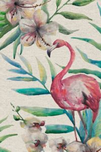Marmont Hill Floral Flamingo 30-Inch x 20-Inch Canvas Wall Art