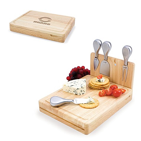 Picnic Time Asiago Folding Cheese Serving Set - Chicago Bears