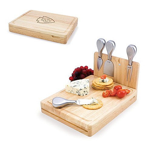 Picnic Time Asiago Folding Cheese Serving Set - Kansas City Chiefs