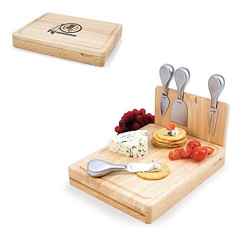 Picnic Time Asiago Folding Cheese Serving Set - Washington Redskins